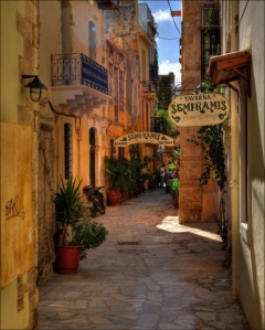 narrow street chania